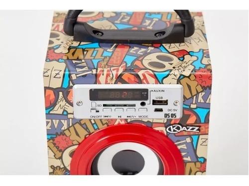 parlante portatil kazz ds05 bluetooth sd/usb/auxiliar 10w