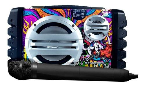 parlante portátil stromberg hopper bluetooth + micrófono