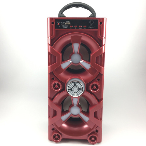 parlante portátil usb fm bluetooth karaoke recargable c/luz