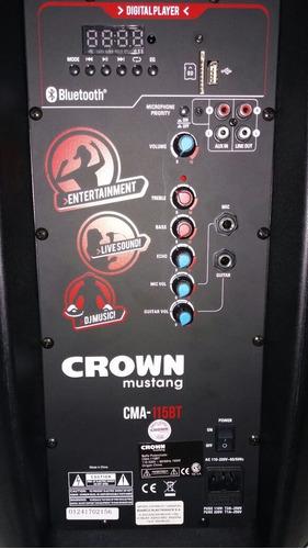parlante potenciado bluetooth 15 crown mustang cma 115bt