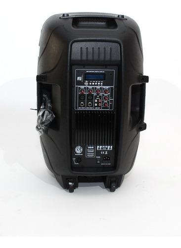 parlante potenciado de 15 con radio, mp3/usb/sd.