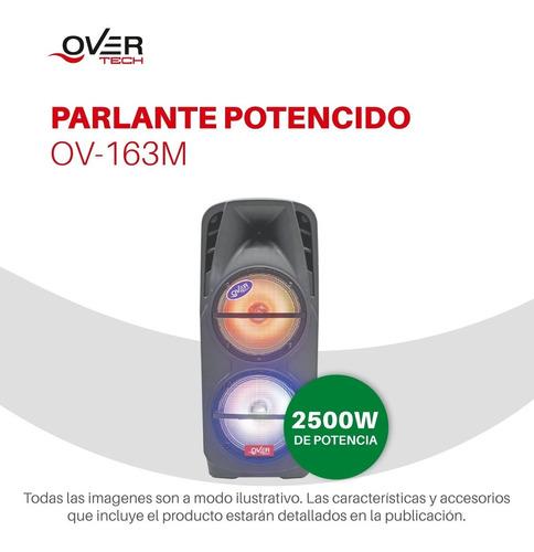 parlante potenciado portatil bluetooth overtech 2500w 163m