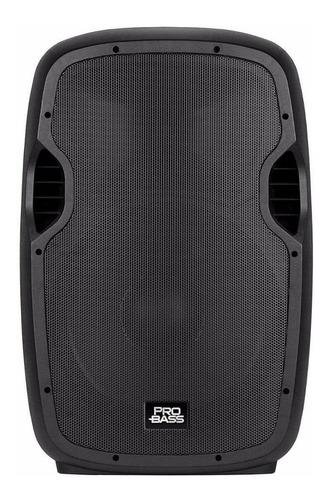 parlante pro bass elevate 115 portátil inalámbrico negro 110v/220v