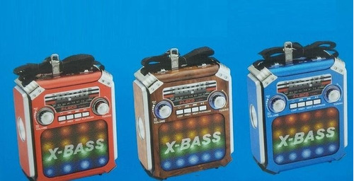 parlante radio fm am bluetooth iluminacion recargable usb sd