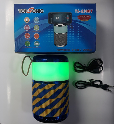parlante recargable bluetooth topsonic ts-230bt