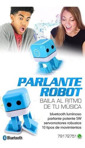 parlante robot baila con musica bailador
