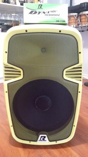 parlante robrom amarillo con luces led