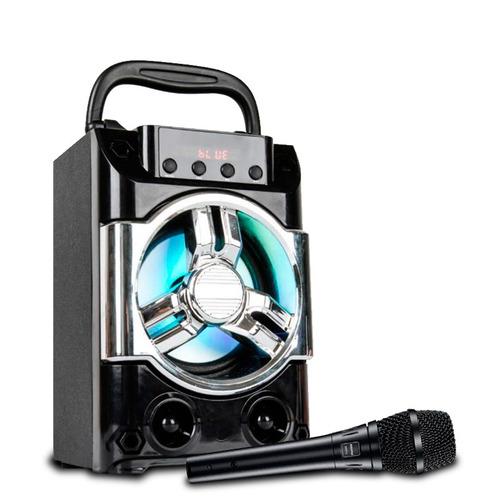 parlante samba karaoke bluetooth usb + luces * off!