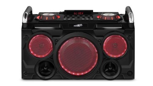 parlante sentey gang punk 5000w wireless bt fm rgb karaoke