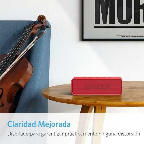 parlante speaker bluetooth soundcore rojo anker