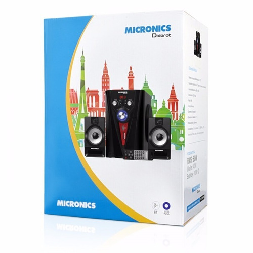 parlante subwoofer micronics diderot 60w bluetooth,usb radio