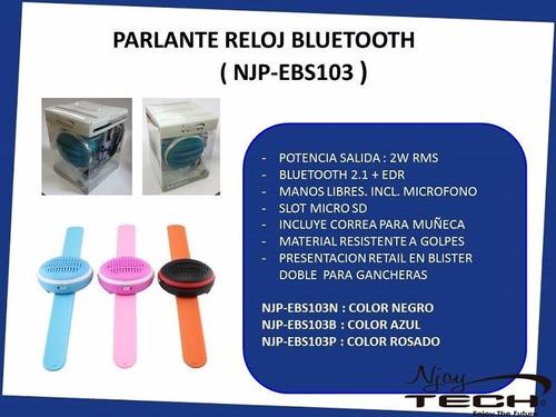 parlante tipo reloj smartwatch mp3 fm bluetooth micro sd