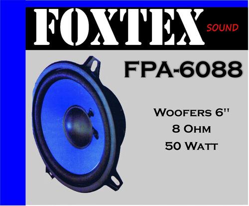 parlante tipo woofers 6 pulgadas 8 ohms - marca foxtex