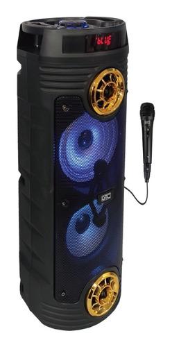 parlante torre bluetooth + micrófono spg-114