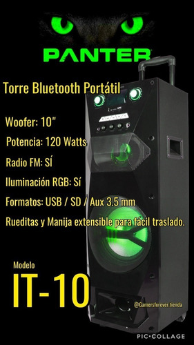 parlante torre panter/ monster