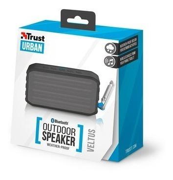 Parlante Trust Veltus Outdoor Inalámbrico Bluetooth Negro