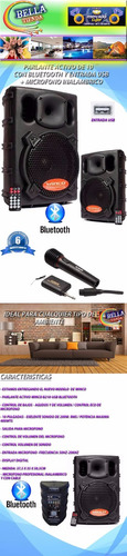 parlante winco 400w + microfono inalambrico +tripode karaoke