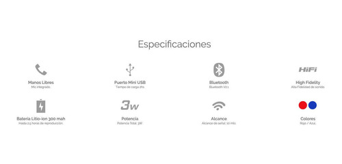 parlante x-view backbone portatil bluetooth manos libres