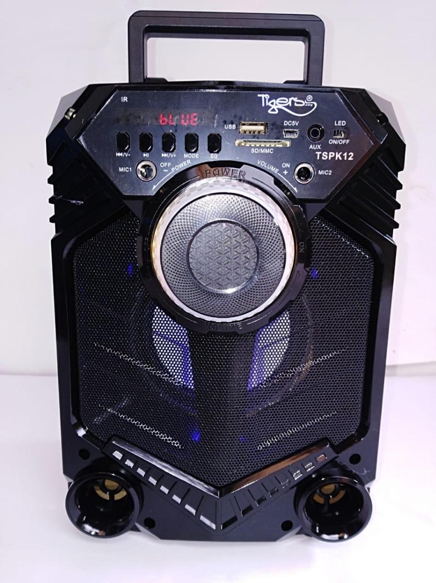 f3357f0a6b9 Parlante,altavoz Tigers, Bluetooth,fm, +control + Micrófono ...