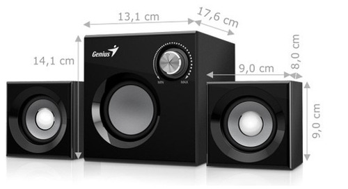 parlantes 2.1 subwoofer genius pc-laptop