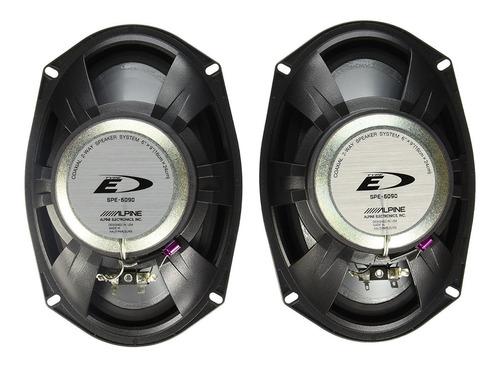 parlantes 6x9 auto alpine spe-6090 75w rms - audio secrets