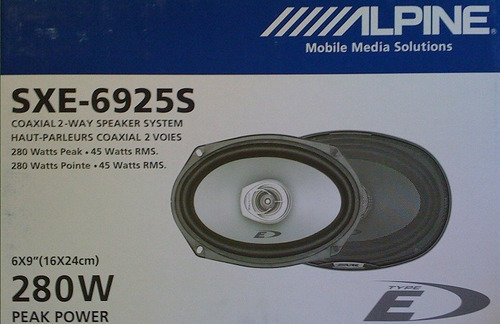 parlantes alpine sxe-6925s de 6x9 2 vias 45w rms