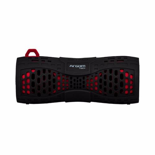 parlantes argom vertigobeats waterproof outdoor black/red -