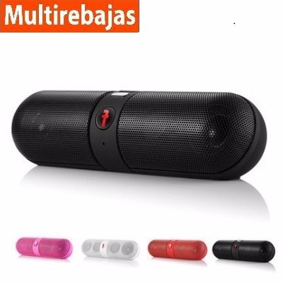 parlantes bluetooth capsula f manos libres micro sd potente