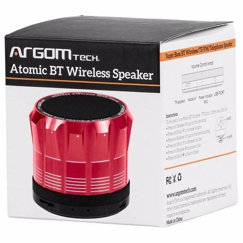 parlantes bluetooth rojo argom arg-sp-2805r