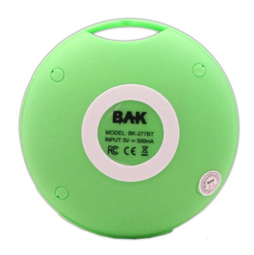 parlantes bluetooth wireless radio mp3 para celular verde