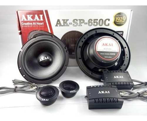parlantes componentes akai ak-sp650c 340w 16cms