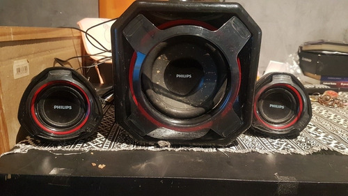 parlantes con subwoofer philips 2.1 modelo spa5300