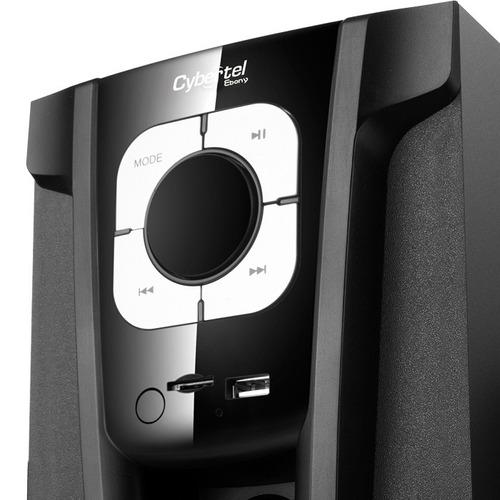 parlantes cybertel 2.1,fm,usb, 60 wats, p/ tv, pc, laptop