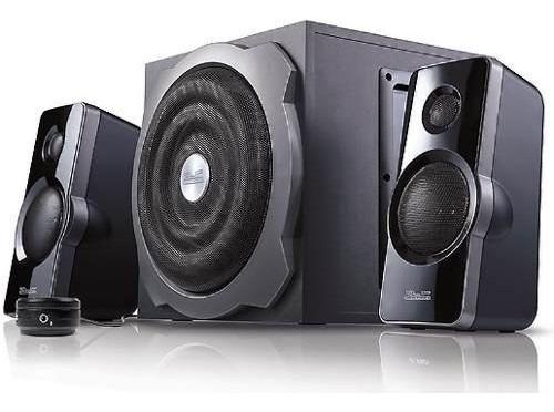 parlantes de estéreo acoustixfusion ii 2.1 usb y sd 48w kes-