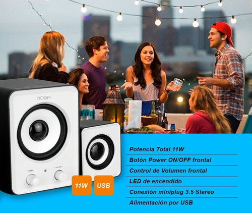 parlantes gamer computadora pc potentes usb 2.1 whatshop