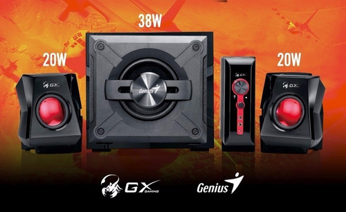 parlantes gamer genius gx sw-g2.1 1250 38w pc tv 3.5mm rca