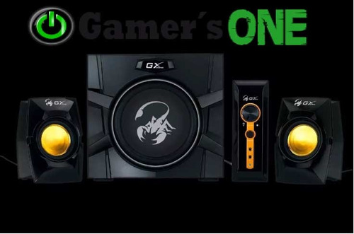 parlantes genius gaming sw-g2.1-3000 70w reales 2.1 para pc
