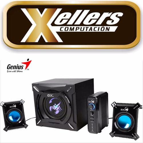 parlantes genius gx sw-g2.1 2000 45w subwoofer pc tv xellers