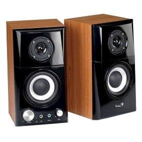 parlantes genius sp-hf500a 14 w color madera y negro
