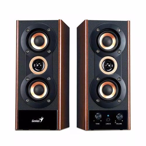 parlantes genius sp-hf800a madera