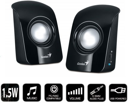 parlantes genius sp u115 de colores speakers