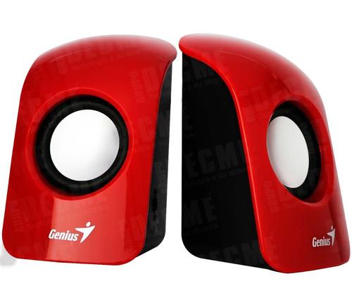 parlantes genius sp-u115 usb 3 watts rojo