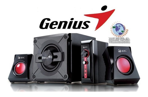 parlantes genius sw 2.1 1250 38w rms gamers pc mp3 laptop