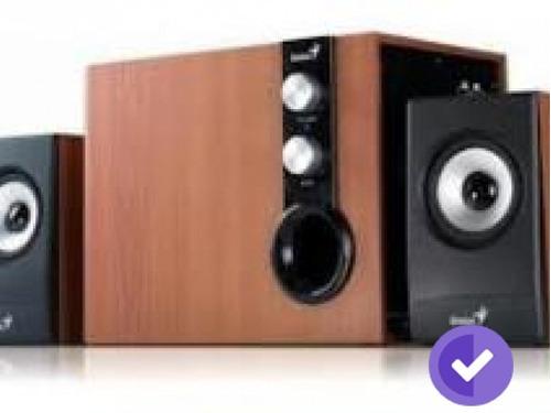 parlantes genius sw-hf1205a madera 220v (expo)