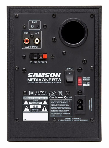 parlantes monitores estudio mediaone bluetooth samson mbt3