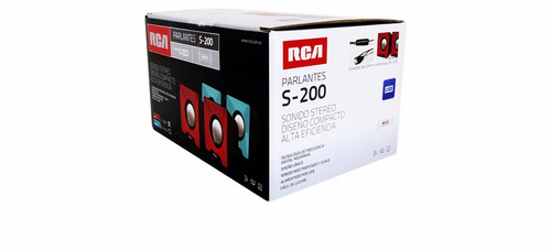 parlantes multimedia usb portátil rca 2.5w rms s-200lb