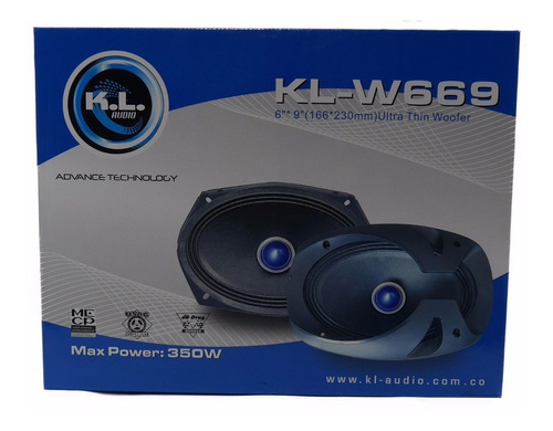 parlantes para carro kl-w669