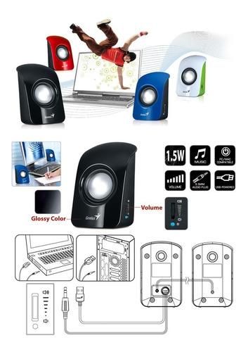 parlantes para pc genius sp-u115 de colores speakers