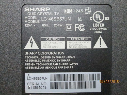 parlantes para tv sharp modelo  lc-46sb57un