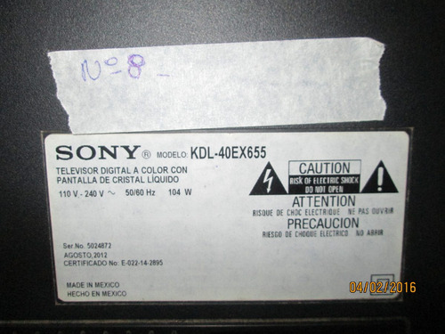 parlantes para tv  sony modelo kdl-40ex655